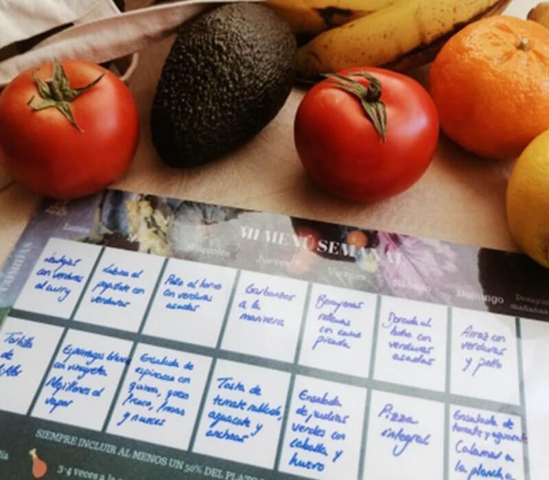 Elaboración de menús para colectividades